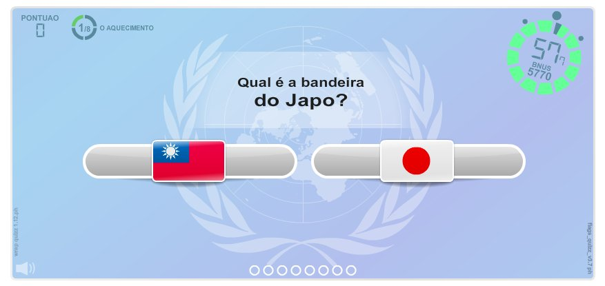 Bandeiras do Mundo.  Jogos geográficos