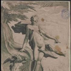 Venus ordenando a Cupido lanzar sus flechas contra Plutón