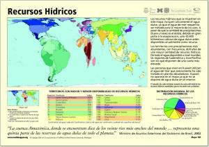 Mapa de países del Mundo. Recursos Hídricos. Worldmapper