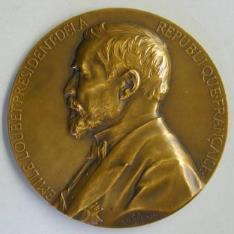 Medalla conmemorativa de la elección de Émelie Loubet como Presidente de la República Francesa