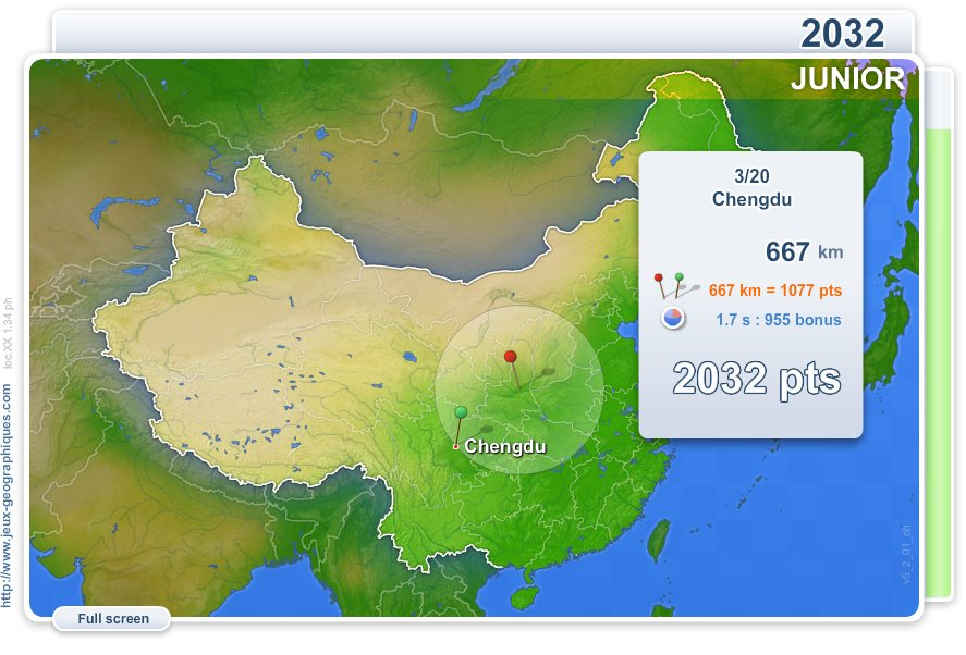 Cities of China Junior . Geography map games