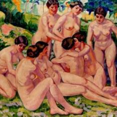 Desnudos en el jardín