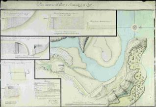 Plano geométrico del Puerto de Rivadesella