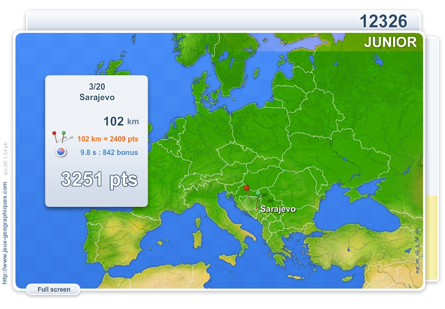 Cities of Europe Junior . Geography map games