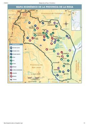 Mapa económico de La Rioja. Mapoteca de Educ.ar