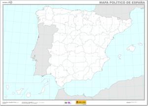 Mapa de provincias y capitales de España. IGN