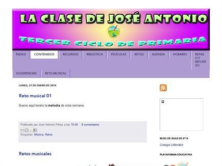 La clase de José Antonio