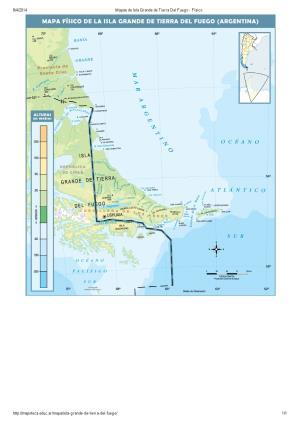Mapa de ríos de Isla Grande de Tierra del Fuego. Mapoteca de Educ.ar