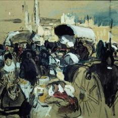 Estudio para La fiesta del pan, Castilla