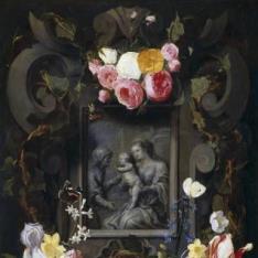 Guirnalda con Santa Ana, la Virgen y el Niño