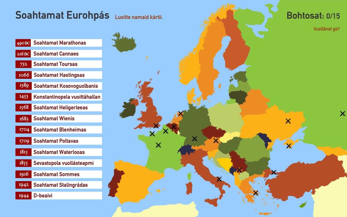 Soahtamat Eurohpás. Toporopa