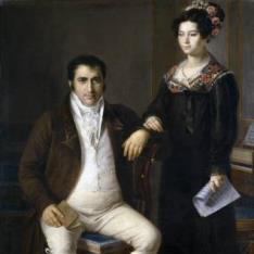 Pedro Benítez y su hija María de la Cruz