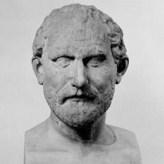 Retrato del orador Demóstenes