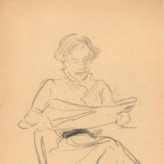 Clotilde leyendo