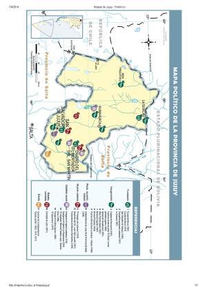 Mapa histórico de Jujuy. Mapoteca de Educ.ar