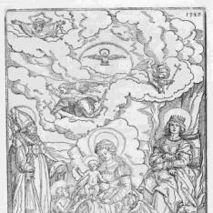 La Virgen y el Niño con los santos Ulrich y Afra y las armas del obispo