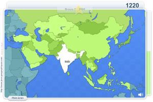 Pays d'Asie. Jeux géographiques
