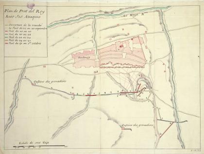 Plan de Prat del Rey Avec ses Attaques