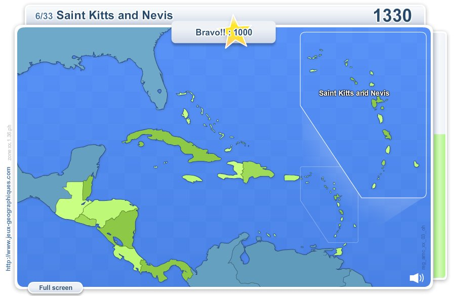 Geo Quizz Central America . Geography map games
