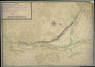 Carte de l'Etablissement de Sa Majesté Catholique a l'Embouchure de la riviere du Missoury