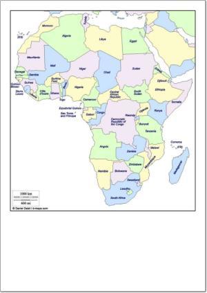 Mapa de países de África. d-maps