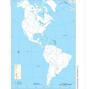 Mapa mudo de América. IGN de Argentina