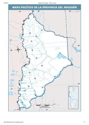 Mapa mudo de capitales de Neuquén. Mapoteca de Educ.ar