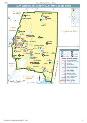 Mapa cultural de Santiago del Estero. Mapoteca de Educ.ar