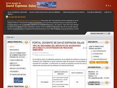 PORTAL DOCENTE DE DAVID ESPINOSA SALAS