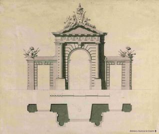 Proyecto para la puerta de San Vicente de Madrid