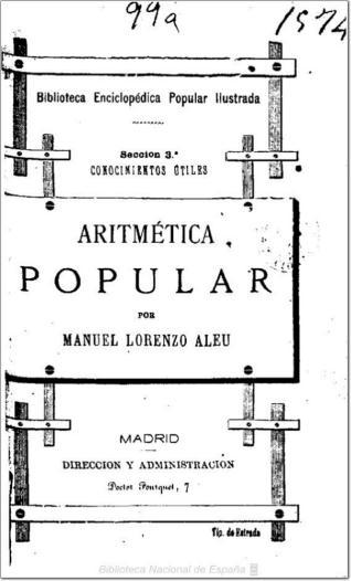 Aritmética popular