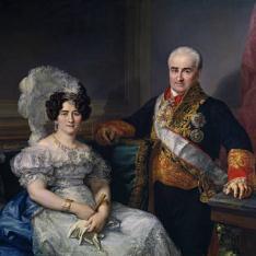 Antonio Ugarte y su esposa, María Antonia Larrazábal