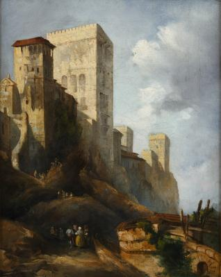 Vista de la Alhambra: Torre de Comares y del Peinador de la Reina