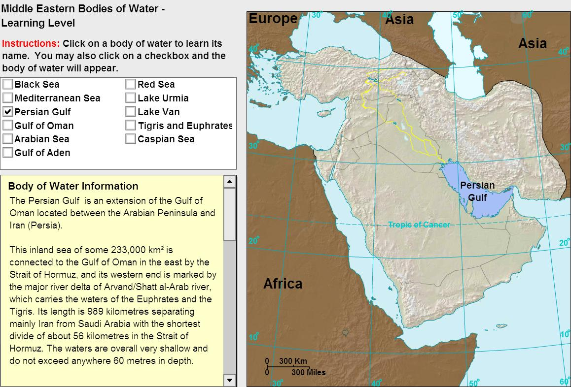 Oceans of Middle East. Tutorial. Sheppard Software