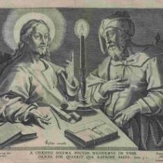 Jesucristo con Nicodemo