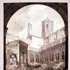 Claustro de los Caballeros. Monasterio de Poblet, Tarragona