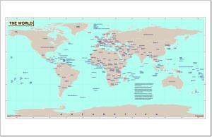 Mapa de países del Mundo. Naciones Unidas