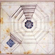 Detalle de la armadura del techo de la casa de Mossen Sorell, Valencia