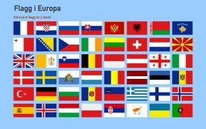 Flagg i Europa. Toporopa