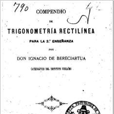 Compendio de trigonometría rectilínea para la 2ª enseñanza