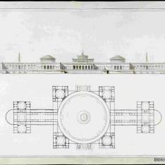 Plano de una biblioteca