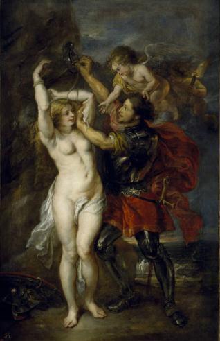 Perseo liberando a Andrómeda