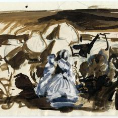 Estudio de composición para Castilla, La fiesta del pan