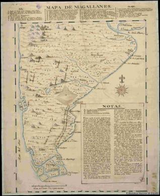 Mapa de Magallanes
