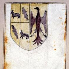 Detalle de escudo y motivo decorativo de la casa de Mossen Sorell, Valencia