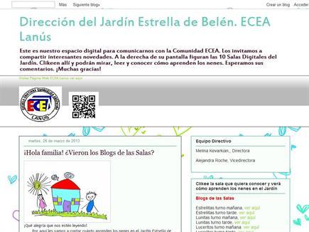 Dirección del Jardín Estrella de Belén. ECEA Lanús, Buenos Aires, Argentina