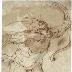 Hércules disparando su arco