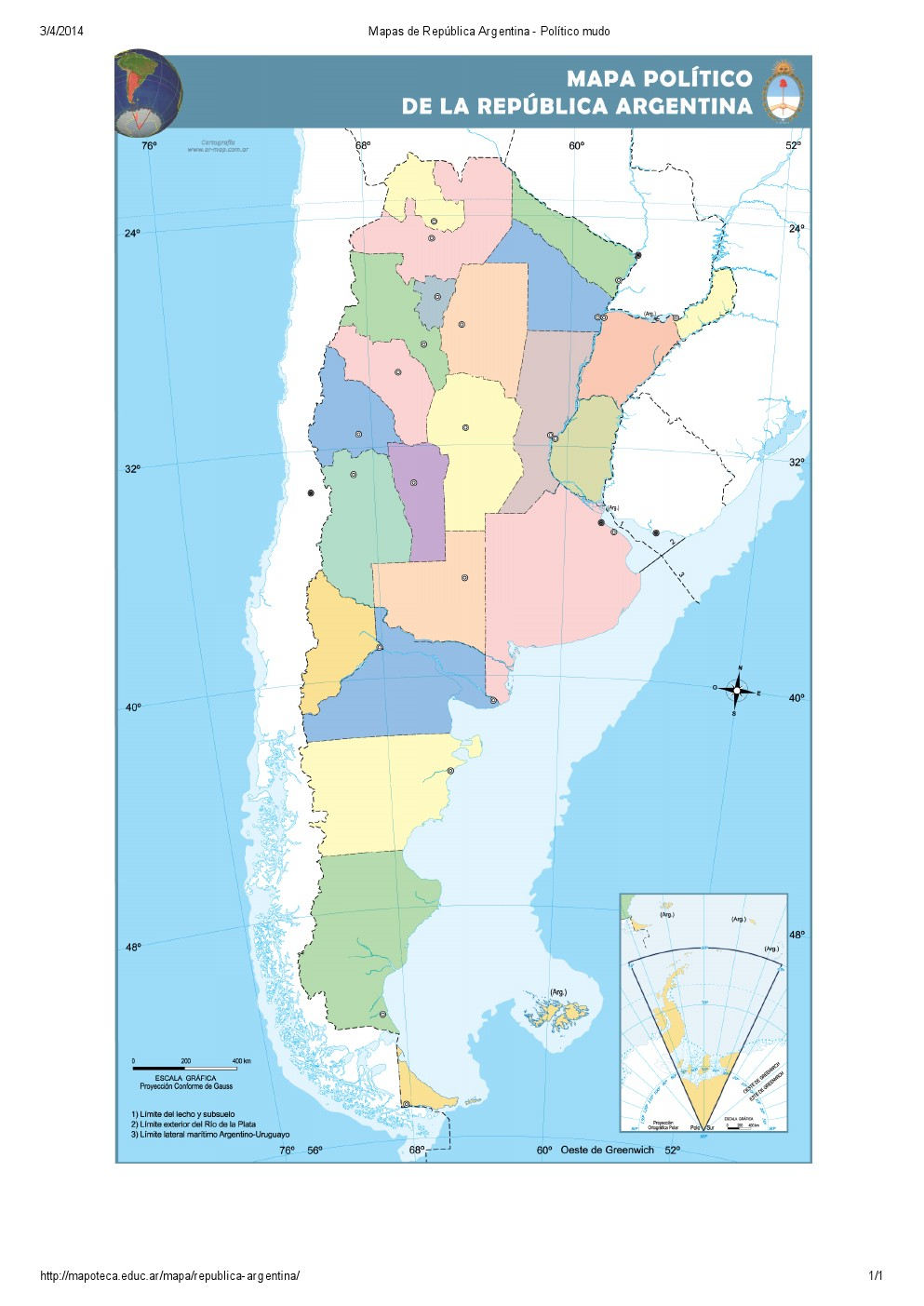 Mapa Para Imprimir De La Republica Argentina Mapa Mudo De