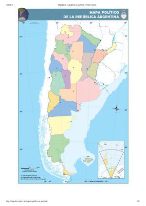Mapa mudo de provincias de Argentina. Mapoteca de Educ.ar