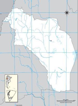 Mapa mudo de La Rioja. IGN de Argentina